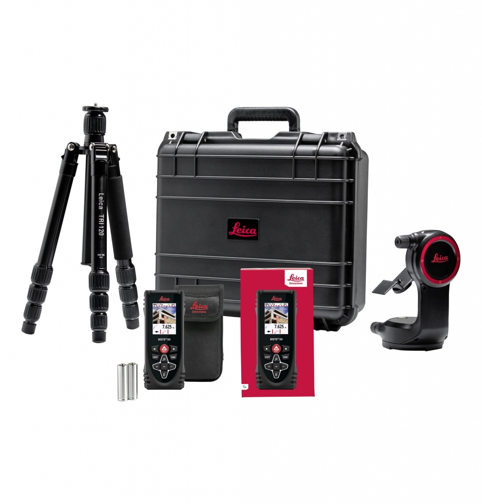 Set Leica Disto X4 s adaptérem DST360 a stativem TRI120